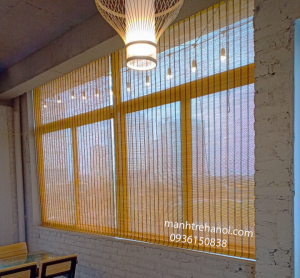 Mành trúc trang trí nhà hàng