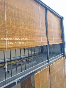 Mành tre trúc treo ban công nhà hàng tại Hòa Bình