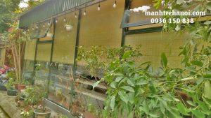 Mành trúc nan nhỏ trang trí nhà hàng quán cafe