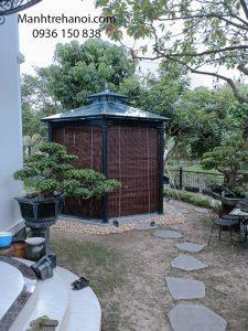 Mành trúc treo lầu trà 6 góc tại Vinhome riverside Long Biên